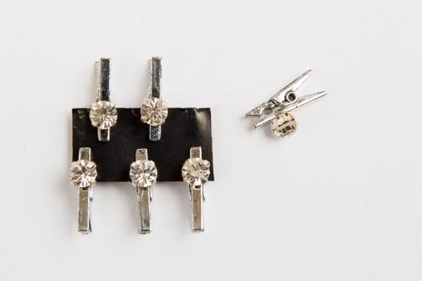 Accessori mollette con strass DIAM 0,8 cm (12 pz)-0