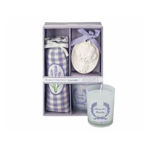 Articolo regalo scatola con sacchetto candela e gesso profumato-0