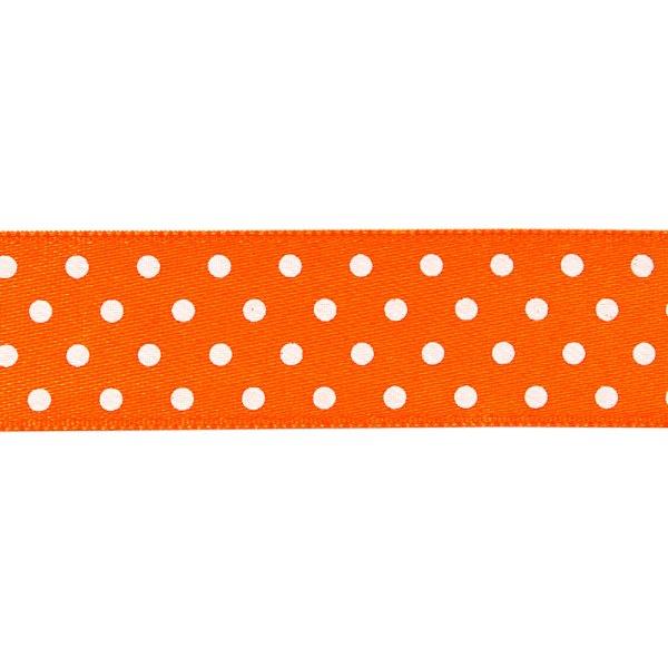Nastro doppio raso pois Arancione 13 mm-0