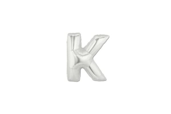 "Palloncino Lettera ""K"" Mylar Silver (10 pezzi)-0"