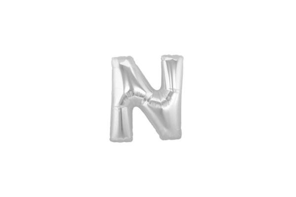 "Palloncino Lettera ""N"" Mylar Silver (10 pezzi)-0"