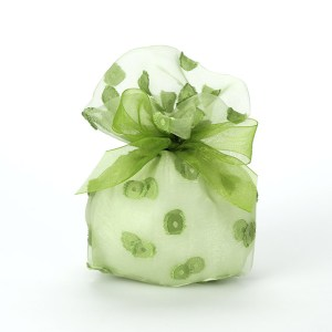 Sacchetto medio jaquard Verde STOCK-0