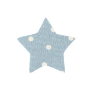 Applicazione stella cotone celeste a pois (24 pezzi) -0
