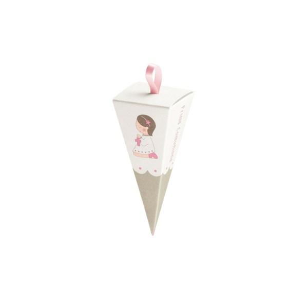 Cono con foro comunione rosa (10 pezzi)-0