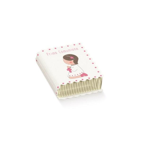 Scatola libro comunione rosa (10 pezzi)-0