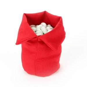Sacco per Confettata Cotone Rosso Piccolo (10 pezzi)-0