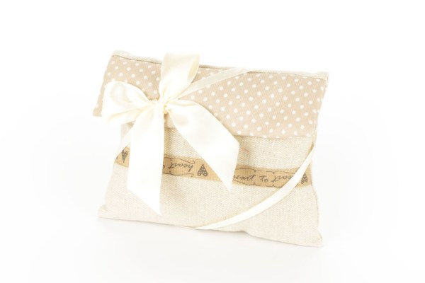 Bustina Sabbia con Pattina a Pois e fascia nocciola Grande (10 pezzi)-0