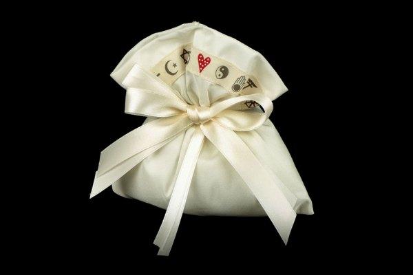 Sacchetto Portaconfetti Taffeta Religioni Peace and Love (10 pezzi)-0