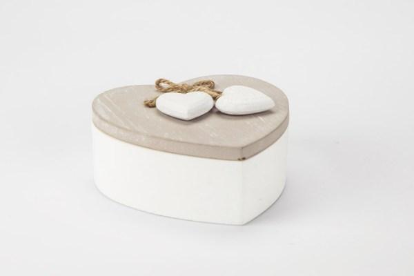 Scatola Cuore Portaoggetti con Cuoricini 13x13 cm-0