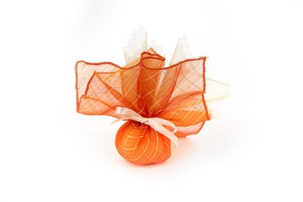 Fazzoletto quadrato melange arancione STOCK-0