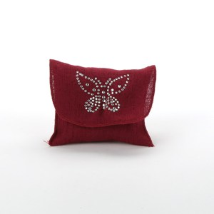 Bustina con farfalla Bordeaux (88 pezzi)-0