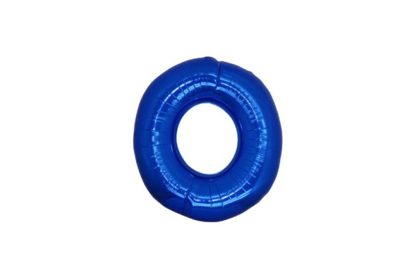 """Numero 0 Foil Piccolo H 8""""/20 cm. Blu (10 Pezzi)-0"""
