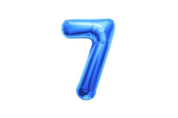 """Numero 7 Foil Piccolo H 8""""/20 cm. Blu (10 Pezzi)-0"""