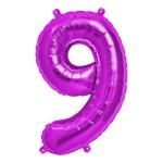 """Numero 9 Foil Piccolo H 8""""/20 cm. Fuxia (10 Pezzi)-0"""