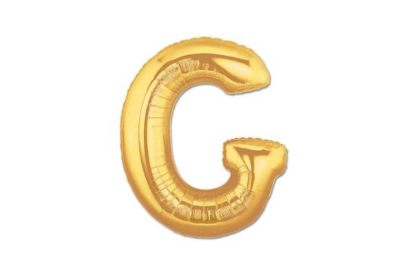 """PALLONCINO LETTERA """"G"""" MYLAR ORO H CM 20/8'' (10 PEZZI)-0"""