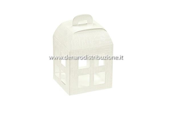 Lanterna tela bianco 5,5 X 5,5 X 6 cm   (10 pezzi)-0