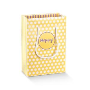 SHOPPER BOX CON CORDINO 13 X 7 X 18 CM (10 PZ) | HAPPY GIALLO/LILLA-0