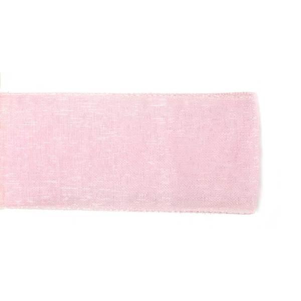 Nastro Organza Rosa 10 mm-0