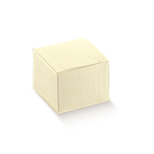 Scatola Pieghevole 8x8x8 Seta Avorio (10 pezzi)-0