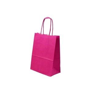SHOPPER BAGS CORDINO | FUCSIA H 24 CM (25 PEZZI)-0