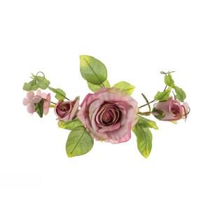 bomboniere fiori tralcio rosa grande rosa antico