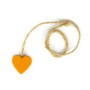 Decorazioni bomboniera cuore corda arancio