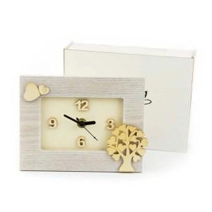bomboniera orologio con scatola legno - Denaro distribuzione