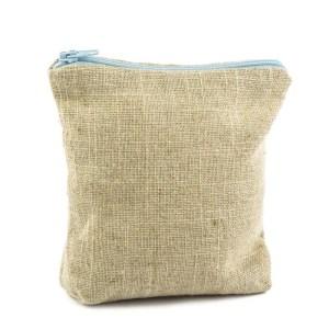 sacchetto portaconfetti cubo zip celeste