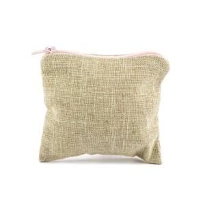 sacchetto portaconfetti bustina naturale zip rosa