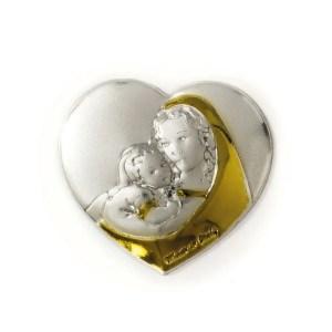 Applicazione cuore maternità color sabbia e oro