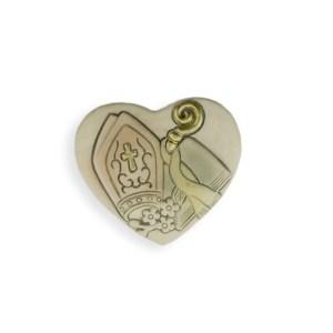 bomboniera magnete cresima mitria cuore