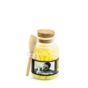 Barattolo candela gialla
