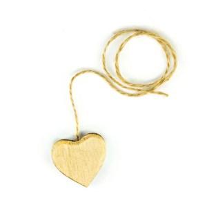 Applicazione cuore legno color naturale piccolo