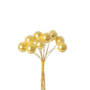 Applicazione bomboniera perla oro grande