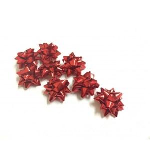 coccarde adesive per regalo colore rosso