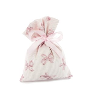sacchetto portaconfetti fiocco rosa