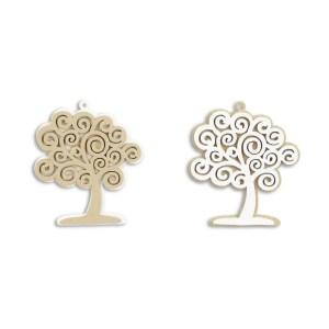 Applicazione bomboniera albero della vita legno cm 5 (conf. 12 pezzi)-0