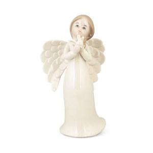 Bomboniera angelo porcellana colomba