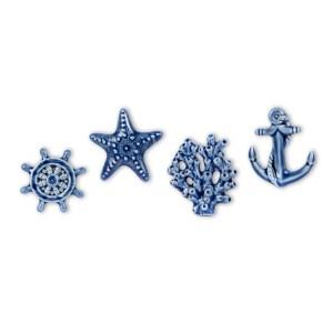 decorazione bomboniera oceano in ceramica