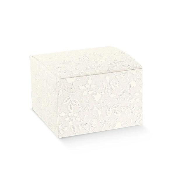 Scatola bomboniere pieghevole harmony bianco cm 9 x 9 x 9