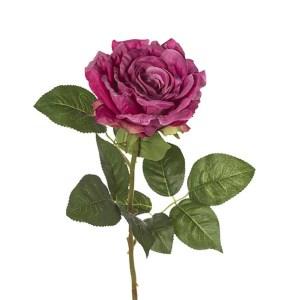 decorazione bomboniera Fiore finto ramo rosa singola