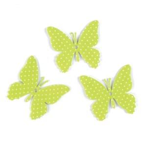 applicazione bomboniera farfalla pois verde