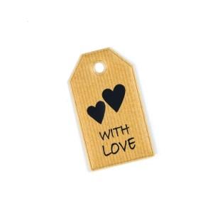 decorazione bomboniera etichetta con amore