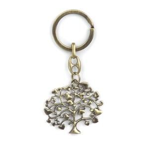 bomboniera portachiavi albero della vita colore bronzo (10 pz)-0