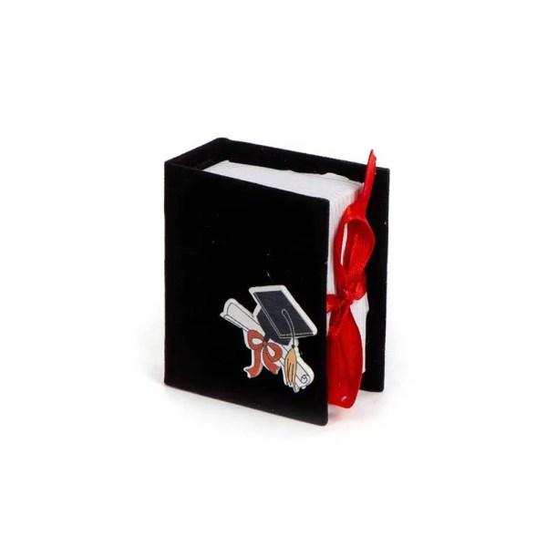 Scatoletta Portaconfetti Book Laurea Nero (6 PZ)-0