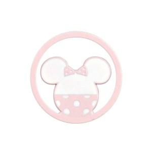 Applicazione Bomboniera Tondo Minnie Rosa (12Pz).-0