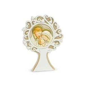 Bomboniera albero della vita rotondo con sacra famiglia-0