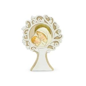 Bomboniera albero della vita rotondo con maternita'-0