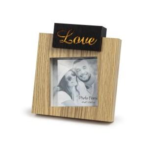 Bomboniera portafoto con led e scritta love-0