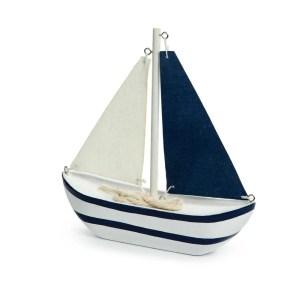 Bomboniera barca a vela bianca e blu media-0